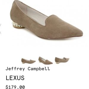 Brand New Jeffrey Campbell Suede Pearl-Heel Flats.